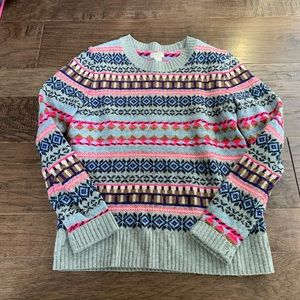 J crew multi color sweater